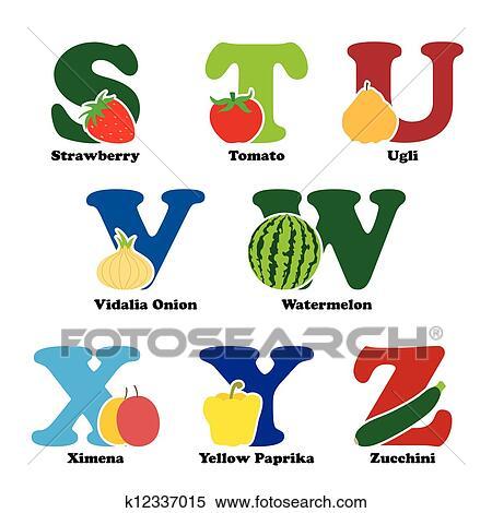 Clipart frutta e verdura alfabeto k12337015 cerca for Clipart frutta
