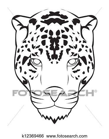jaguar face illustration - photo #8