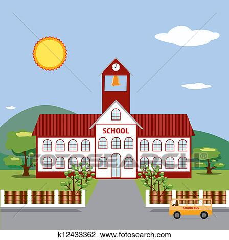 School building Illustrations and Clip Art. 3,680 school building ...