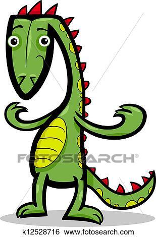 可爱绿色恐龙 漫画