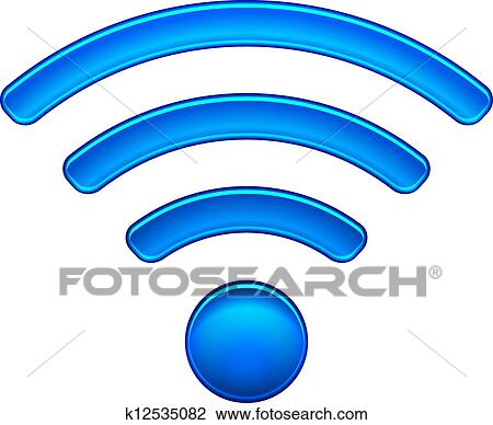 Clipart of Wireless Network Symbol wifi icon k12535082 ...