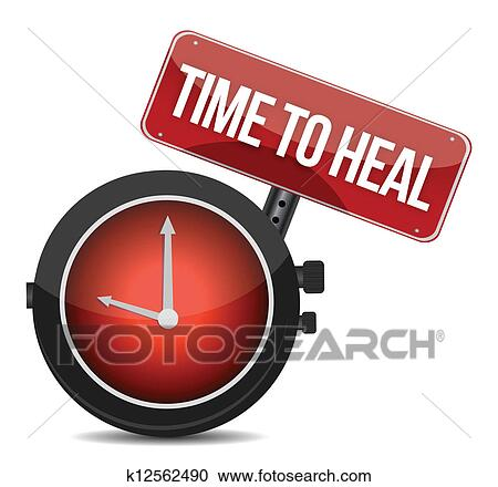 Clipart Of Time To Heal Illustration Design K12562490