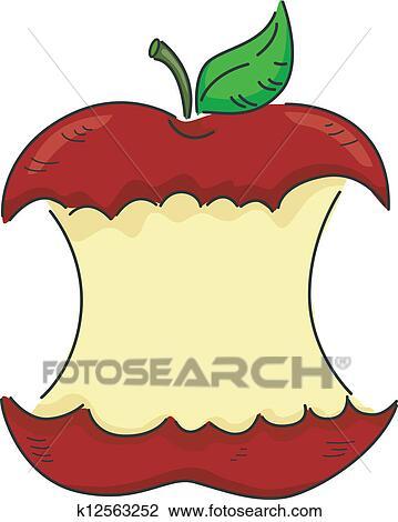 剪贴画 - 咬, 苹果
