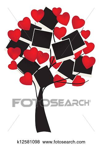 Free vector heart tree