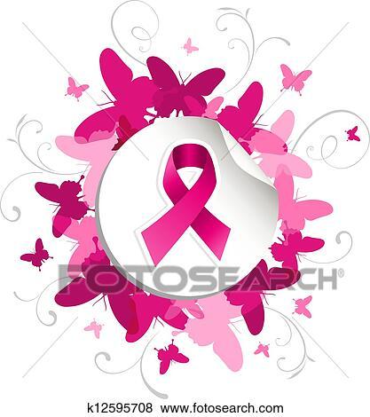 Kostenlose Clip Art Brustkrebs Band