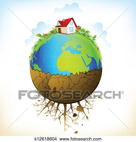 Clipart of distruction of earth k12618604 search clip for Environmental graphics giant world map wall mural