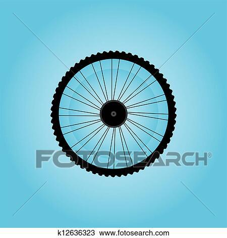 手绘图 - 自行车轮子,