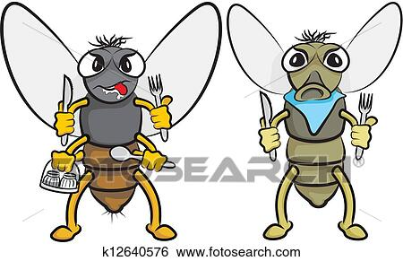 Clip Art of gluttonous fly k12640576 - Search Clipart ...