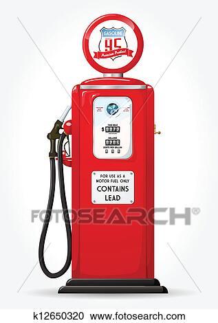 Clipart benzin pumpe fr her k12650320 suche clip art - Wandbild petrol ...