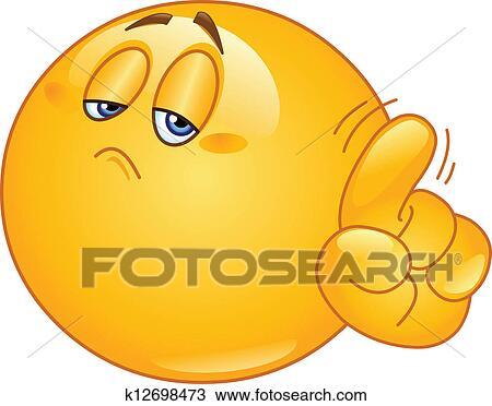 Clipart - nein, emoticon k12698473 - Suche Clip Art ...