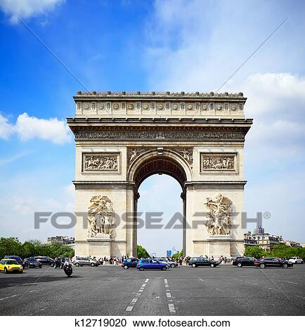 Stock photography of arc de triomphe paris k12719020 for Arc de triomphe wall mural