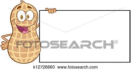 Clip Art Peanut Clip Art peanut clip art royalty free 1485 clipart vector eps holding a blank sign