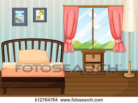 手绘图 - a, 床, a, 灯