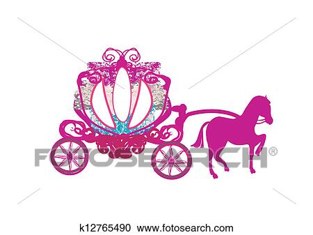 Clipart of vintage carriage - doodle icon k12765490 ...