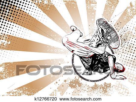 Clipart of breaker retro poster background k12766720 for Pose poster mural