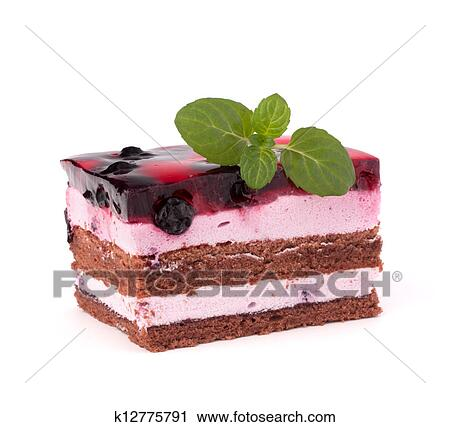 Delicious Cake Clipart : Stock Photography of Delicious cake piece k12775791 ...