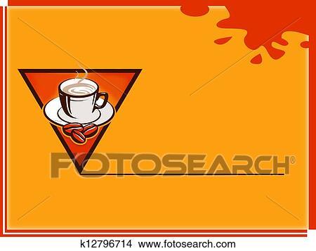 手绘图 - 咖啡时间, 注意卡片