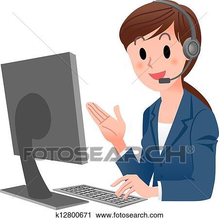 Clip Art Customer Clipart clipart of customer service k9092892 search clip art representative