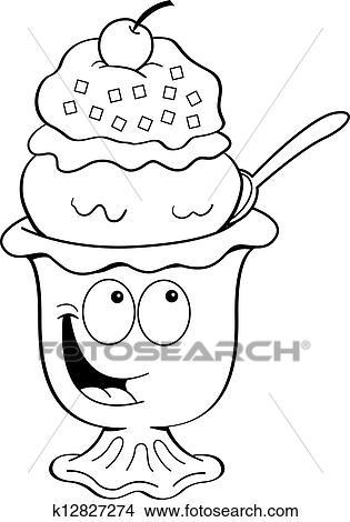 卡通漫画, 冰淇淋圣代冰淇淋