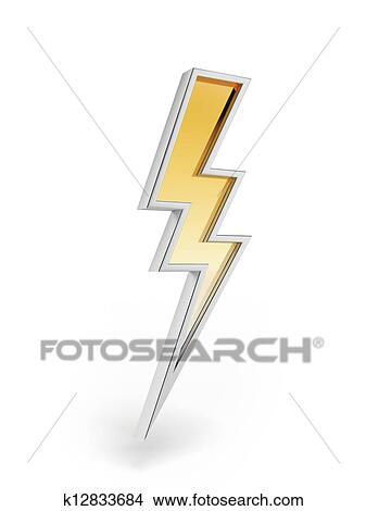 Drawings of Powerful lighting symbol k12833684 - Search Clip Art Illustrations, Wall Posters ...