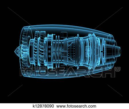 Stock photography of jet engine k12878090 search stock - Lecteur blue ray mural ...