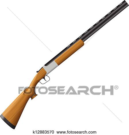 Clipart of Shotgun k12883570 - Search Clip Art ...