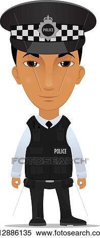 Clipart - polizeibeamter k12886135 - Suche Clip Art ...