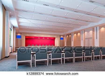 手绘图 - 3d, 会议室