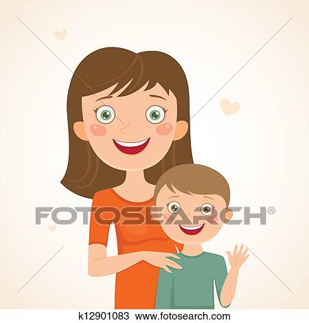 Mother son Clipart Royalty Free. 12,634 mother son clip art vector ...
