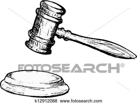 Judge Hammer Coloring Page