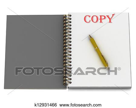 Stock Illustration - COPY word on notebook page . Fotosearch - Search Clip  Art, Drawings