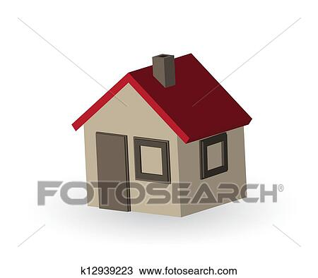 手绘图 - 简单, 房子