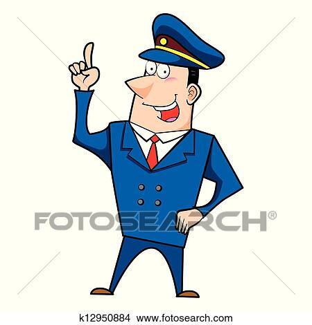 Clipart m le dessin anim gendarme k12950884 - Gendarme dessin ...
