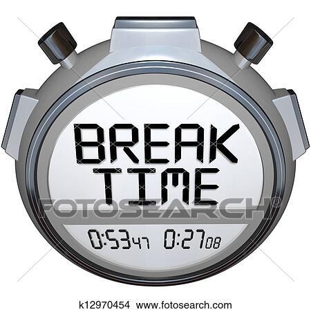 dessins temps coupure chronom tre minuteur horloge pause pour repos k12970454. Black Bedroom Furniture Sets. Home Design Ideas