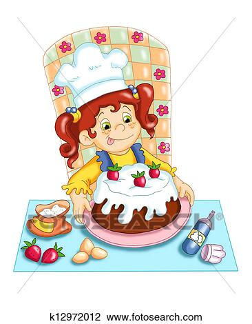 Clip Art of the cake k12972012 - Search Clipart ...