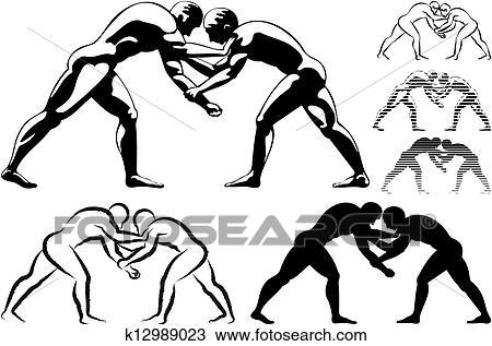 Wrestling Clip Art and Illustration. 2,343 wrestling clipart ...