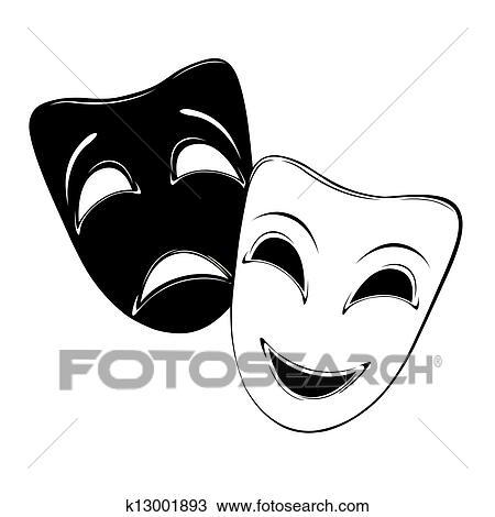 戏剧绘图_绘图戏剧性的面具k13001893搜寻美工图片