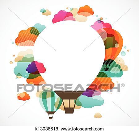 clip art hei luft ballon buntes abstrakt vektor hintergrund k13036618 suche clipart. Black Bedroom Furniture Sets. Home Design Ideas