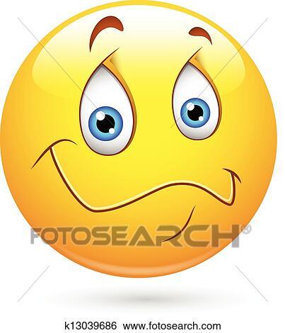 clip art of cute calm smiley vector k13039686 search