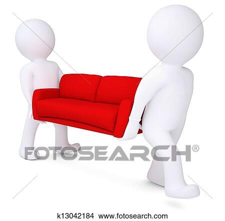 Disegni due bianco 3d uomo orso rosso divano for Divano disegno