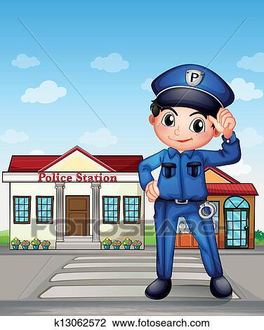 Polizeiwache clipart  Polizeiwache Clipart Illustrationen. 1.101 polizeiwache Clip Art ...