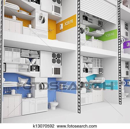 Clip Art Futuristico Edificio Di Appartamenti K13070592