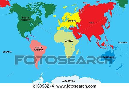 颜色地图, 在中, 世界