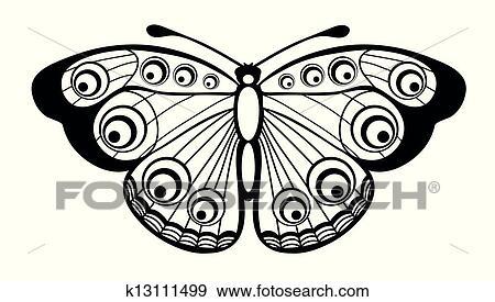 - 黑白, 蝴蝶