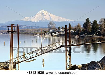 mt Hood Clipart Stock Image mt Hood And