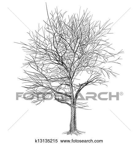 clipart gro blo er baum ohne bl tter sakura tree. Black Bedroom Furniture Sets. Home Design Ideas