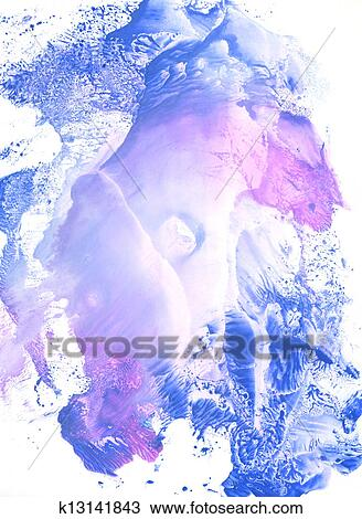 春天蓝色的景物画法