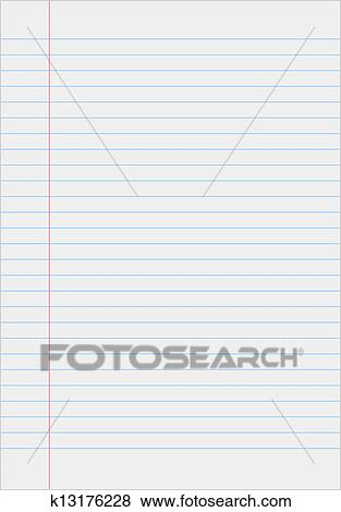 Clip Art of Notebook paper with lines k13176228 - Search Clipart ...