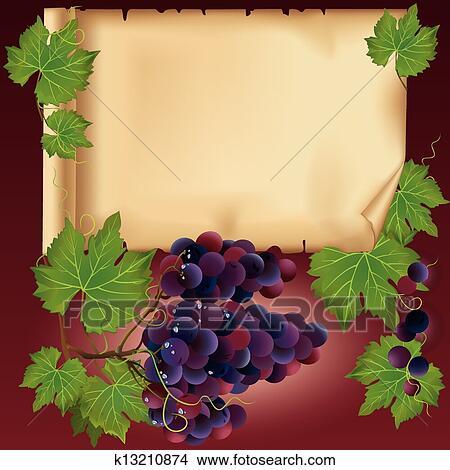 clipart fond raisin noir et vieux papier endroit pour texte k13210874. Black Bedroom Furniture Sets. Home Design Ideas