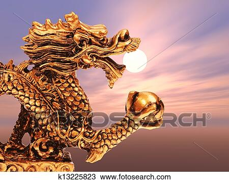 Chinese Golden Dragon Drawing Drawing Chinese Golden